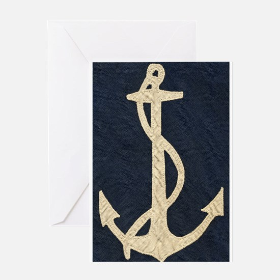 Old Flag Anchor Greeting Card