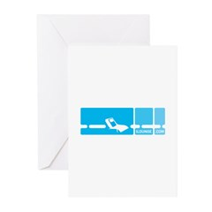 Mod Blue Greeting Cards (Pk of 20)