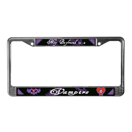 Boyfriend Vampire Heart License Plate Frame