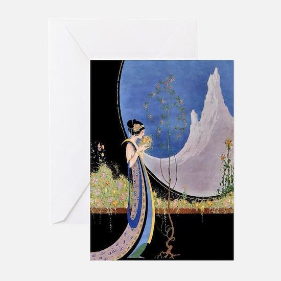 Art Deco Spring Mavis Vivadou Ad Greeting Cards