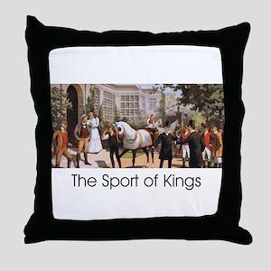 TOP Sport of Kings Throw Pillow