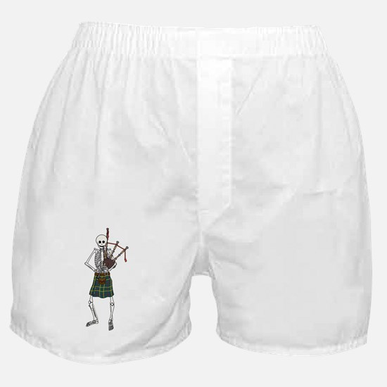 Bagpiper Skeleton Boxer Shorts