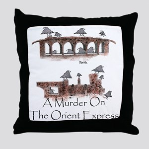 A Murder on the Orient Express Throw Pillow