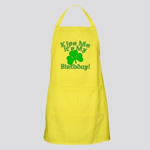 Kiss Me It's My Irish Birthday Apron