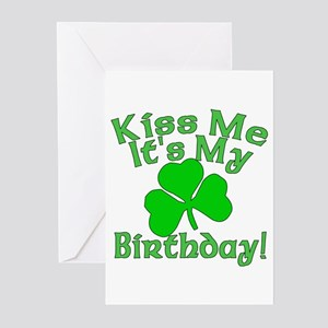 Kiss Me It's My Irish Birthday Greeting Cards (Pk