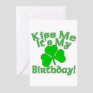 Irish birthday greeting cards cafepress kiss me its my irish birthday greeting cards pk m4hsunfo Gallery