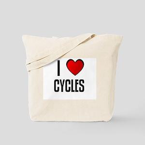 I LOVE CYCLES Tote Bag
