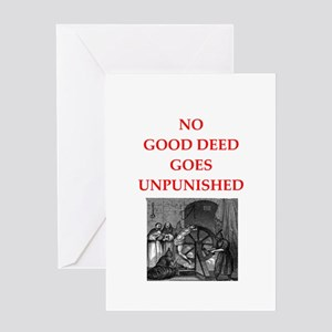 Mind your own business greeting cards cafepress good deed greeting cards m4hsunfo