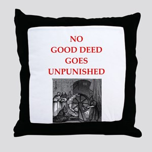 good deed Throw Pillow