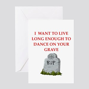grave Greeting Cards