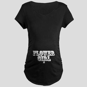 Flower Girl - Old West Maternity Dark T-Shirt