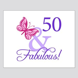 50th Birthday Butterfly Small Poster