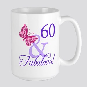 60th Birthday Butterfly Large Mug