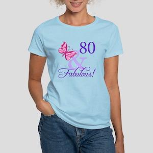 80th Birthday Butterfly Women's Light T-Shirt