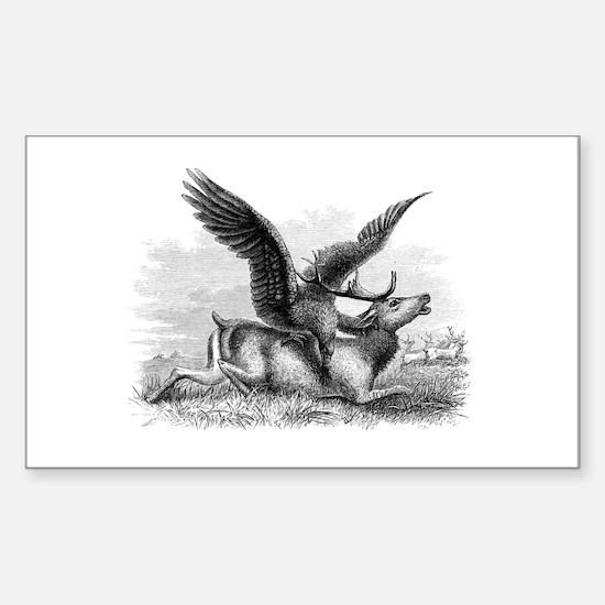 Golden Eagle Sticker (Rectangle)