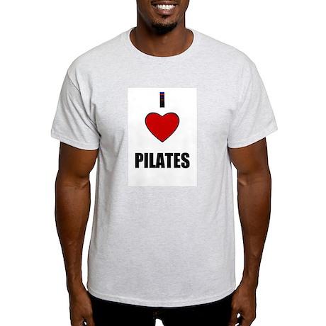 I LOVE PILATIES Ash Grey T-Shirt