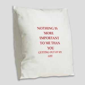you Burlap Throw Pillow