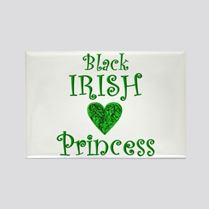 """Black Irish Princess"" Rectangle Magnet"