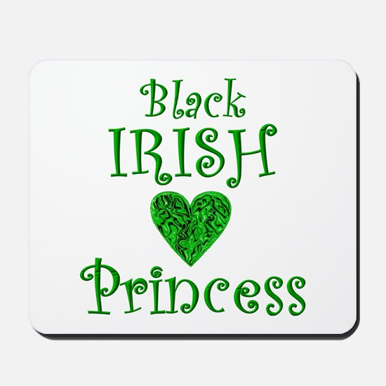 """Black Irish Princess"" Mousepad"