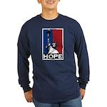 Liberty is Hope Long Sleeve Dark T-Shirt