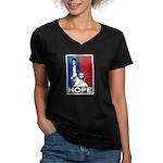 Liberty is Hope Women's V-Neck Dark T-Shirt