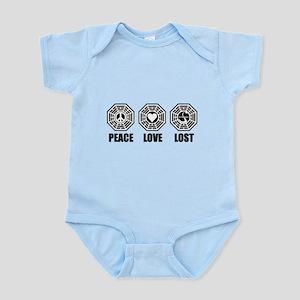 PEACE LOVE LOST Infant Bodysuit