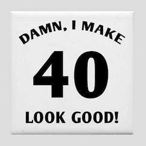 40 Yr Old Gag Gift Tile Coaster