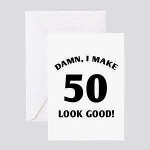 50 Yr Old Gag Gift Greeting Card