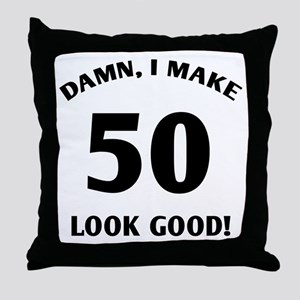50 Yr Old Gag Gift Throw Pillow