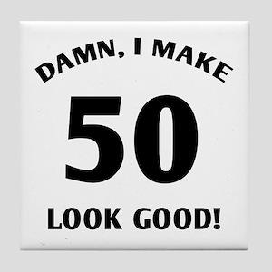50 Yr Old Gag Gift Tile Coaster