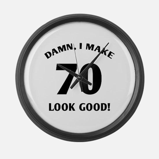 70 Yr Old Gag Gift Large Wall Clock