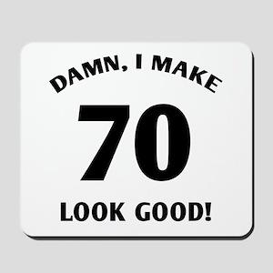 70 Yr Old Gag Gift Mousepad
