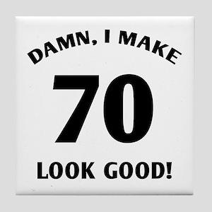 70 Yr Old Gag Gift Tile Coaster
