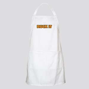 Ruck It Yellow Rugby Humor BBQ Apron