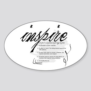 Inspire Sticker (Oval)