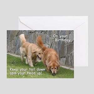 Golden Retriever 'Tail' Birthday Card