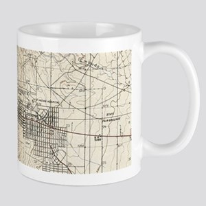 Vintage Albuquerque New Mexico Topographic Ma Mugs