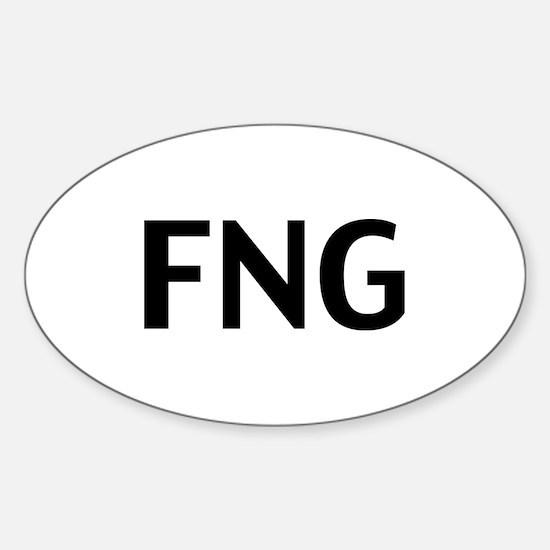 FNG Sticker (Oval)