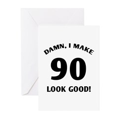 90 Yr Old Gag Gift Greeting Cards (Pk of 10)