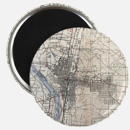 Vintage Albuquerque New Mexico Topographic Magnets