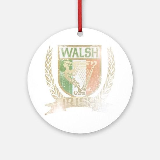 Walsh Irish Crest Ornament (Round)
