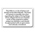 Bible Disclaimer Rectangle Sticker