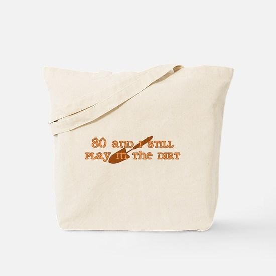80th Birthday Gardening Tote Bag