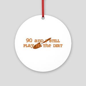 90th Birthday Gardening Ornament (Round)