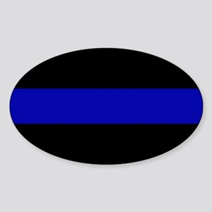 Blue Line Bumper Sticker (Oval)