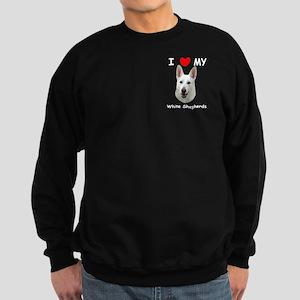 White German Shepherd Sweatshirt (dark)