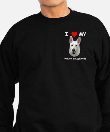 White German Shepherd Sweatshirt (dark)
