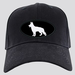 White German Shepherd Black Cap