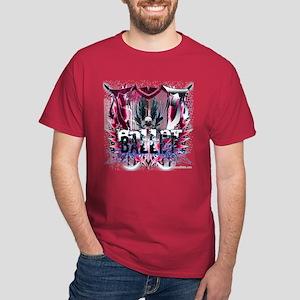 Magenta Ballet Grunge Dark T-Shirt