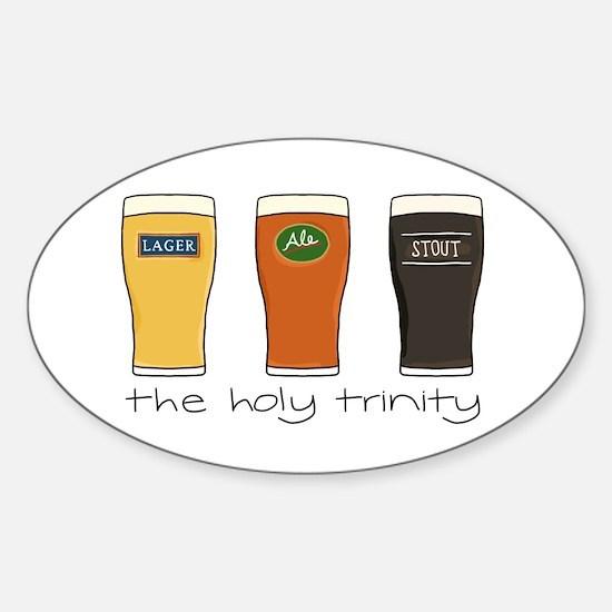 The Holy Trinity - Sticker (Oval)